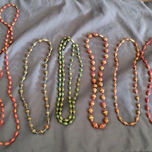 Necklaces made in Uganda